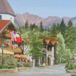 """Vail Village"" 12x18 Vail Village with the Gore Mountains in the background."