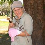 This was in the Cooktown park.  I met a lady that rescued this baby Wallabee.  What a joy!!!!